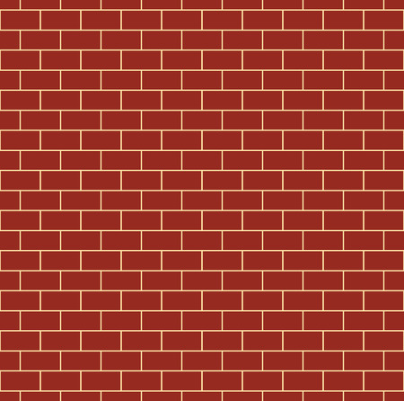 bricklaying: Red brick wall seamless pattern. Repeating texture of brickwork. Continuous bricks background. Simple vector illustration with bricklaying.