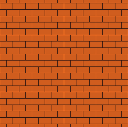 bricklaying: Russet brick wall seamless pattern. Continuous bricks background. Repeating texture of bricklaying. Simple vector illustration with brickwork.