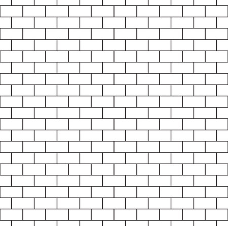 White brick wall seamless pattern. Repeating texture of brickwork. Continuous bricks background. Simple vector illustration with bricklaying.