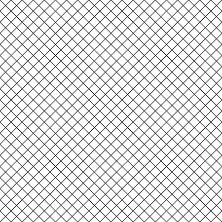 perpendicular: Intersecting perpendicular lined seamless pattern. Repeating mesh texture with black perpendicular crossing lines on white background. Grid checkered vector illustration.