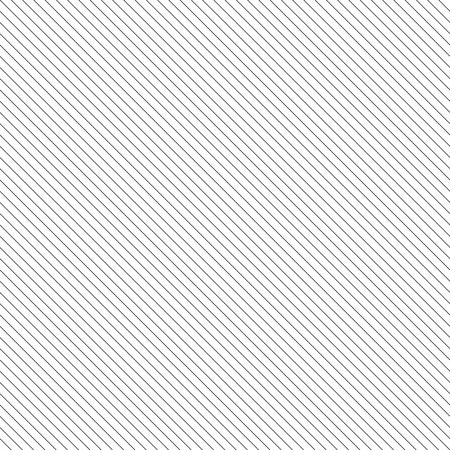 Diagonal lined seamless pattern. Repeating texture with black thin parallel straight lines on white background. Vector illustration. Illustration