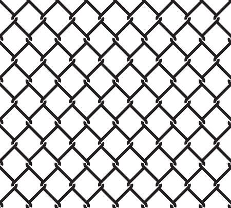 Modelo inconsútil de la cerca de alambre metálico. malla de alambre de acero aislada sobre fondo blanco.