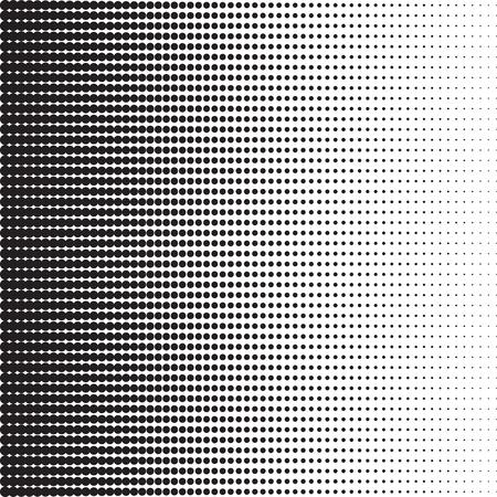 ドットのグラデーション効果でハーフトーンのパターン。水平方向のスポット。水平方向のポイント。背景や様式化されたテクスチャのテンプレートです。デザイン要素。ベクトル EPS8 形式のイラスト。