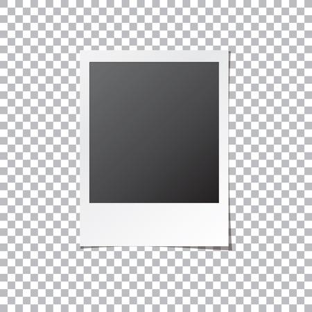 Instant Photo Frame. Old Retro Photo Isolated Mock Up. Realistic ...