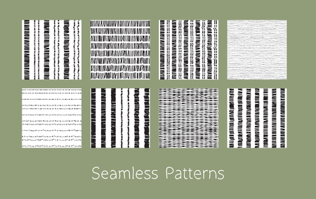 matting set of dotted and dashed seamless patterns stylized burlap and matting abstract repeating