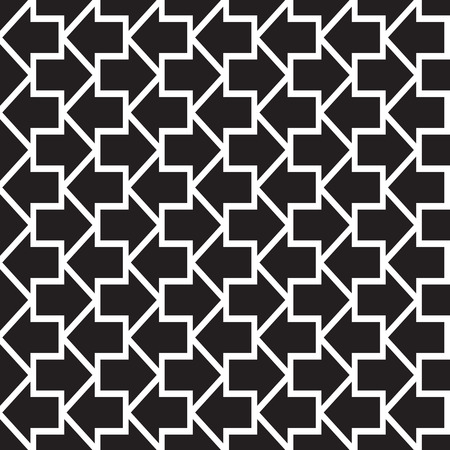 arrowhead: Arrows seamless pattern. Abstract geometric texture with arrow shapes. Monochrome vector eps8 illustration.