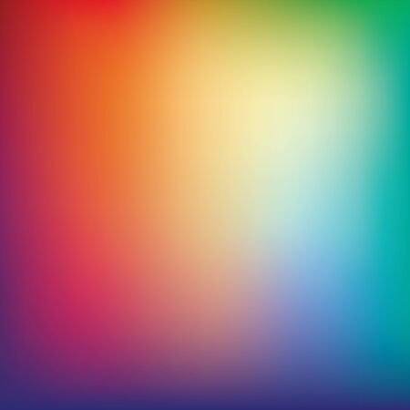 soft colors: Colorful gradient mesh background in bright rainbow colors. Abstract smooth blurred texture. Easy editable soft colored illustration without transparency.
