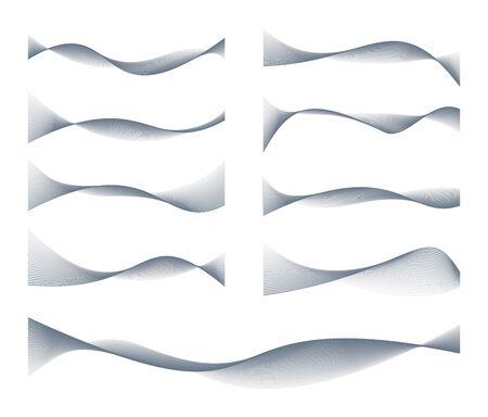 Waved Lines Design Elements Set