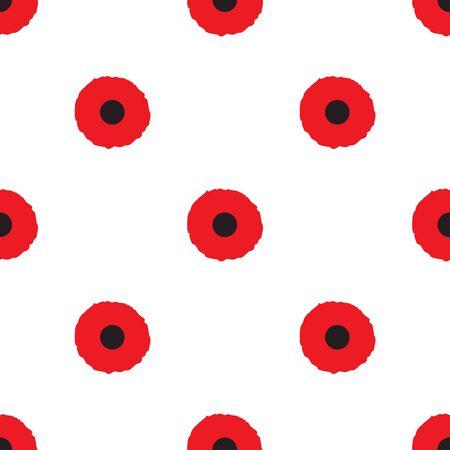 opium poppy: Poppy Seamless Pattern