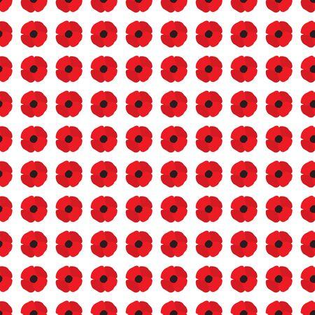 opium poppy: Poppy Flowers Seamless Pattern