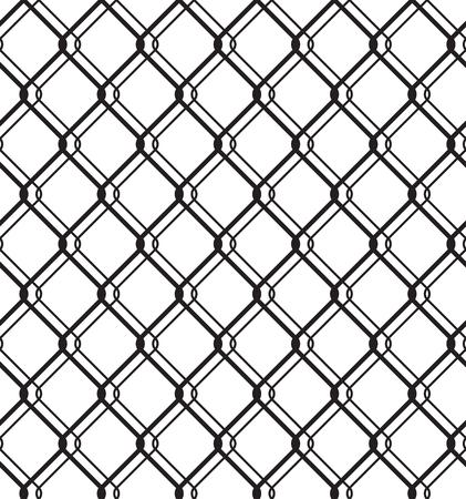 Wired Metallic Fence Seamless Pattern
