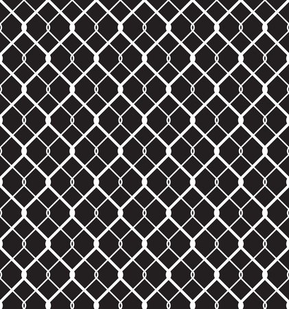 chained link fence: Steel Wired Fence Seamless Pattern Overlay Illustration