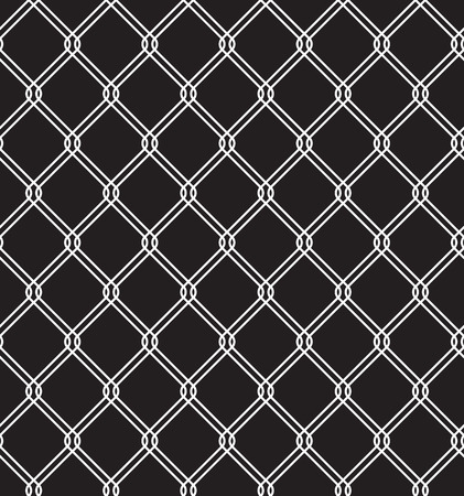 chainlink fence: Steel Wired Fence Seamless Pattern Overlay Illustration