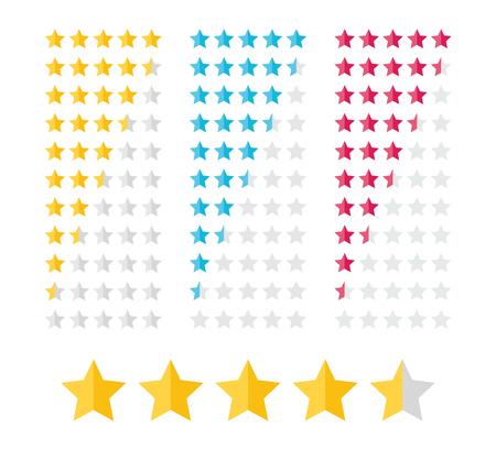 estimation: Stars Rating Kit Illustration