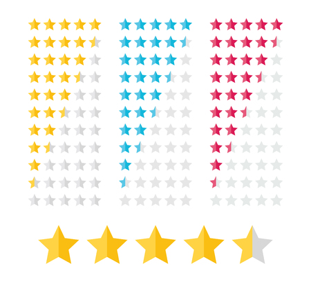 Stars Rating Kit Illustration