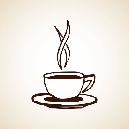 Tazza di caffè disegnata a mano. Illustrazione di vettore eps8.