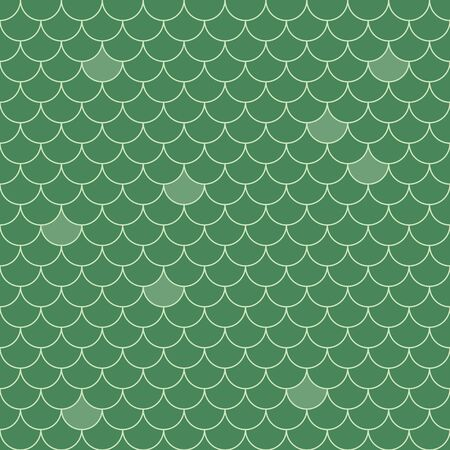 Fish scales seamless pattern. Repeating geometric background in green colors. Stylized geometric vector illustration EPS8. Vettoriali