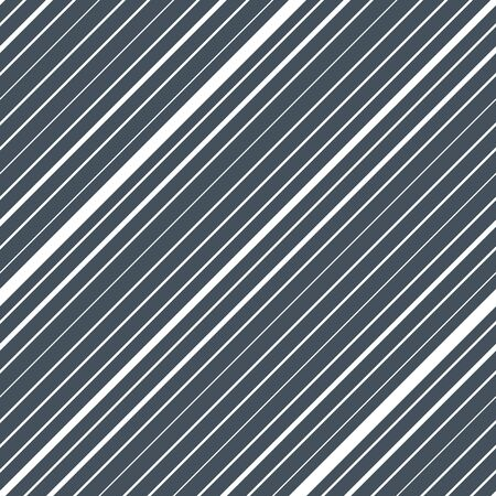 Diagonal striped seamless pattern. Repeating texture with white parallel straight lines and stripes on blue tint background. Lined vector illustration.