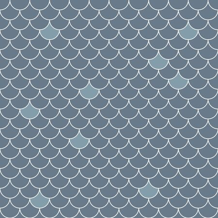 Fish scales seamless pattern. Repeating geometric background in blue tones.