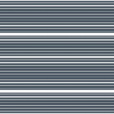 Horizontal striped seamless pattern. Repeating texture with white parallel straight lines and stripes on blue tint background. Lined vector illustration.