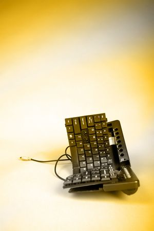 trashed: Trashed Keyboard with Yellow Gradient