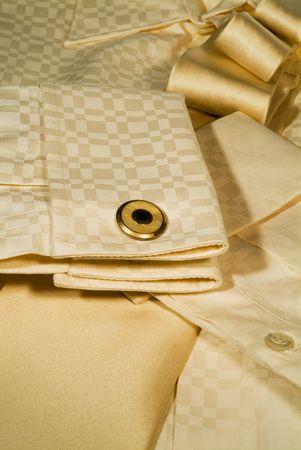 Close-up Shirt, Manschetten, Manschettenknopf und Krawatte  Lizenzfreie Bilder