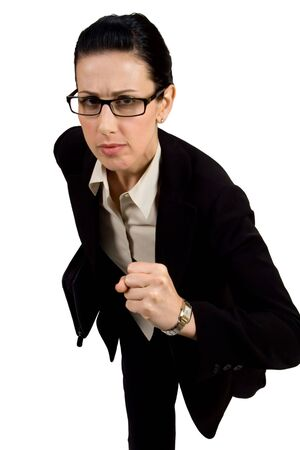 Female with black briefcase running Stock Photo - 631709