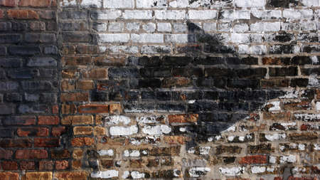 gritty: Old weathered urban wall with arrow