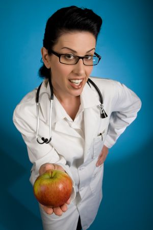 An apple a day keeps the doctor away Stock Photo - 2100779