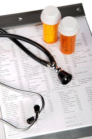 doses: Gezondheidszorg concept featuring lab testresultaten Stockfoto