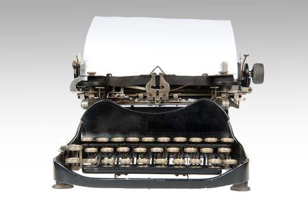 hoja en blanco: Vintage retro m�quina de escribir con hoja de papel en blanco
