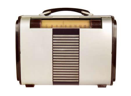 Retro portable radio isolated on white Reklamní fotografie