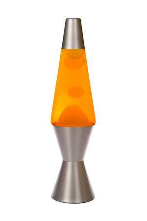 Orange silber Lava-Lampe, isoliert auf weiss Lizenzfreie Bilder