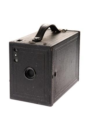 Classic vintage film box camera isolated on white background  photo