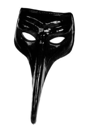 long nose: Black long nose renaissance mask isolated on white background