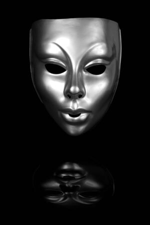 silver: Silver mask isolated on black background Stock Photo