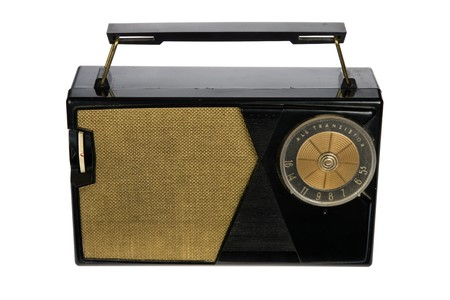 Vintage retro portable radio isolated on white background Stock Photo - 4089860