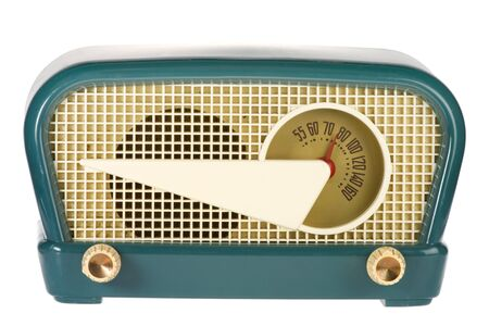 Vintage retro radio isolated on white background Stock Photo