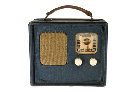 Vintage retro portable radio isolated on white background Stock Photo - 4089861
