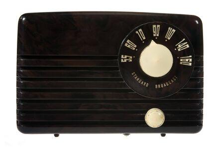 Vintage retro radio isolated on white background 版權商用圖片