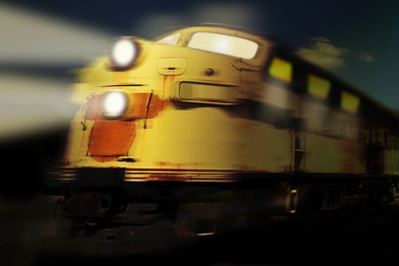 frightful: Moving ghost train at night