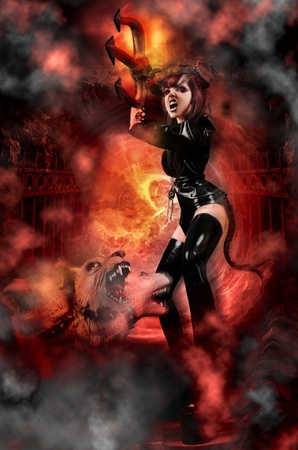 She Devil - Demon rising from the Gates of Hell