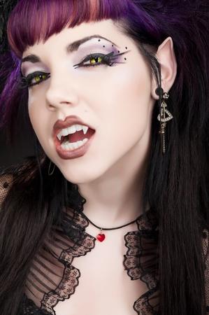 Fangtastic Vampire - Klaar voor Bite Stockfoto
