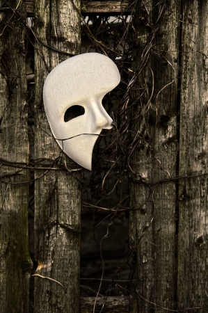 Masquerade - Phantom of the Opera Mask on Weathered Fence photo