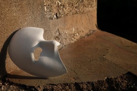 phantom: Masquerade - Phantom of the Opera Mask on Cracked Stone