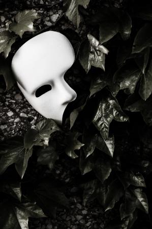 Masquerade - Phantom of the Opera Mask on Ivy Wall 版權商用圖片
