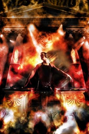 clubbers: Los dioses son los DJs - Partido en el Templo de Beats Foto de archivo