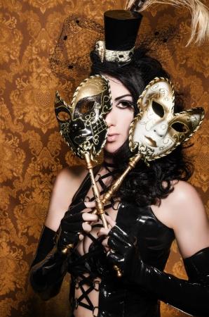 Mysterieuze Masquerade - Sexy Vixen met Venetiaanse maskers