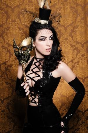 Mysterious Masquerade - Sexy Vixen with Venetian Mask Stock Photo - 14187018
