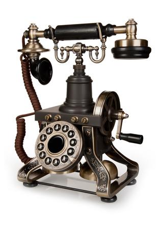 Retro Phone - Téléphone Vintage isolé sur fond blanc Banque d'images - 25375400